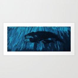 Bowhead Whales Art Print