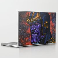 thanos Laptop & iPad Skins featuring Marvel Thanos Infinity Gauntlet by Adam Worley