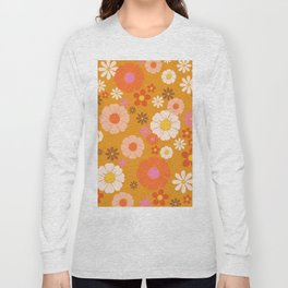 Groovy Mod 60's Flower Power Long Sleeve T-shirt