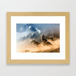 Moonrise Howl Framed Art Print