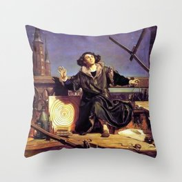 Matejko-Astronomer Copernicus-Conversation with God Throw Pillow
