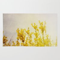 coldplay Area & Throw Rugs featuring And it Was All Yellow by Olivia Joy StClaire