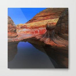 Paria Canyons' Rain-Made Pond With Majestic Reflections Metal Print