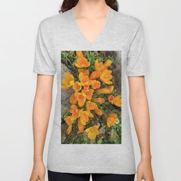 Golden Crocus In The Rockery Unisex V-Neck