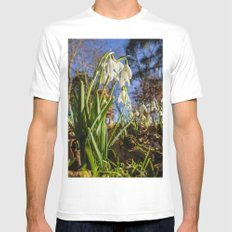 Snowdrops SMALL Mens Fitted Tee White