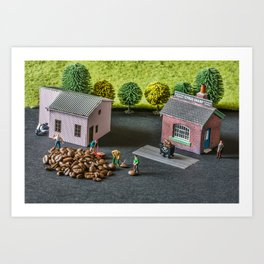 The Little Millers Coffee Corporation Art Print