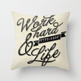 Work Hard Throw Pillow