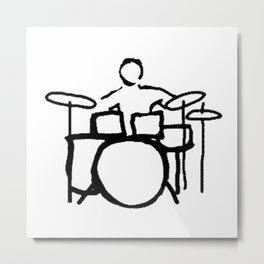 Drummer expert Metal Print