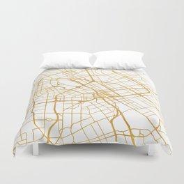 SAN JOSE CALIFORNIA CITY STREET MAP ART Duvet Cover