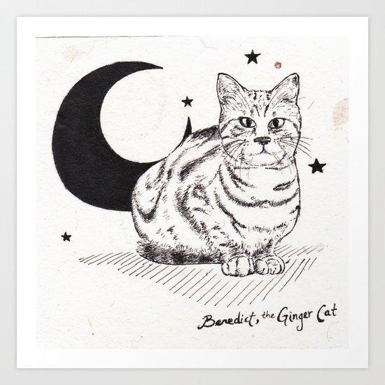 Benedict, the Ginger Cat Art Print