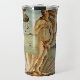 The Birth of Venus - Nascita di Venere by Sandro Botticelli Travel Mug
