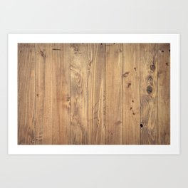 Wooden Background Art Print