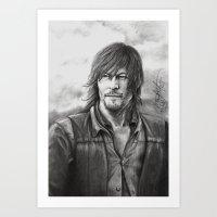daryl dixon Art Prints featuring Daryl Dixon by Megan Halvorson