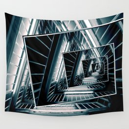 Path of Winding Rails Wall Tapestry