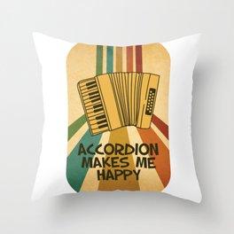 Accordion Melodeon Piano Accordion Retro Gift Idea Throw Pillow