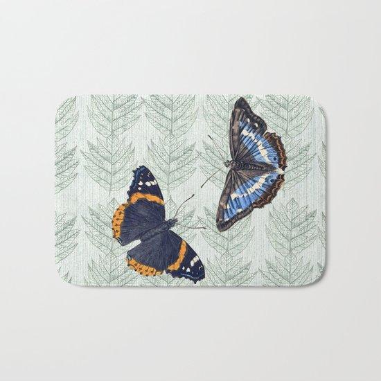A Butterfly summer Bath Mat