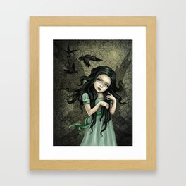 Shadow Wings Faerie Framed Art Print