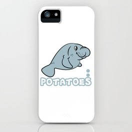 "A Sea Lion Tee Saying ""Save The Floaty Potatoes"" T-shirt Design Sea Creatures Ocean Adorable Swim iPhone Case"