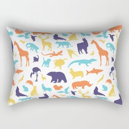 animal silhouettes Rectangular Pillow