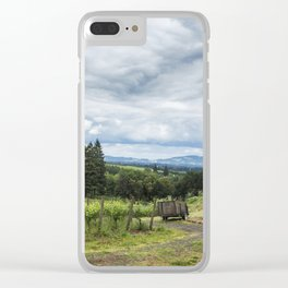 Growing Grapes Clear iPhone Case