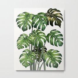Tropical Monstera  Metal Print