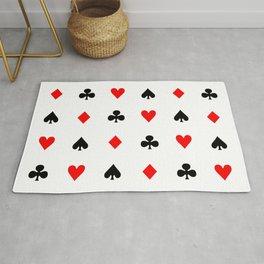 Playing cards pattern Rug
