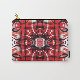 Red Black Decor Design Carry-All Pouch