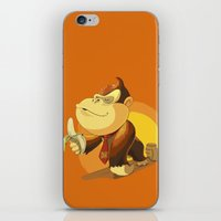 donkey kong iPhone & iPod Skins featuring Kong by Rod Perich