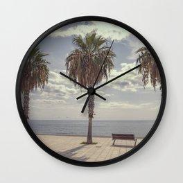 Palm trees in Palma de Mallorca Wall Clock