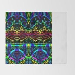 Rainbow Lotus Tangle Throw Blanket