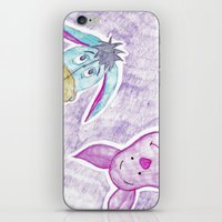 eeyore iPhone & iPod Skins featuring eeyore and piglet by Art_By_Sarah