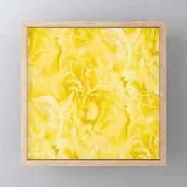Yellow Peony Petals in Close-up #decor #society6 #buyart Framed Mini Art Print