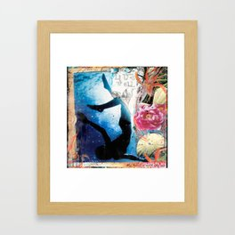 LIVE WELL, My Heart is with the Sea Framed Art Print