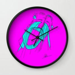 Crying; Playfully #2 Wall Clock