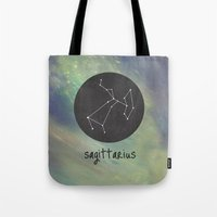 sagittarius Tote Bags featuring Sagittarius by snaticky
