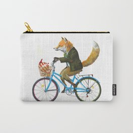 Fox goes to Tea (white) Carry-All Pouch