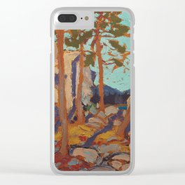 Tom Thomson - Pine Cleft Rocks - Canada, Canadian Oil Painting - Group of Seven Clear iPhone Case