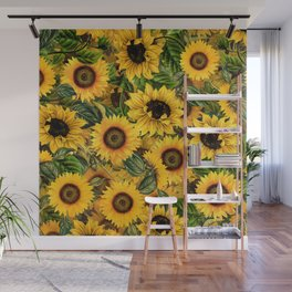 Vintage & Shabby Chic - Noon Sunflowers Garden Wall Mural