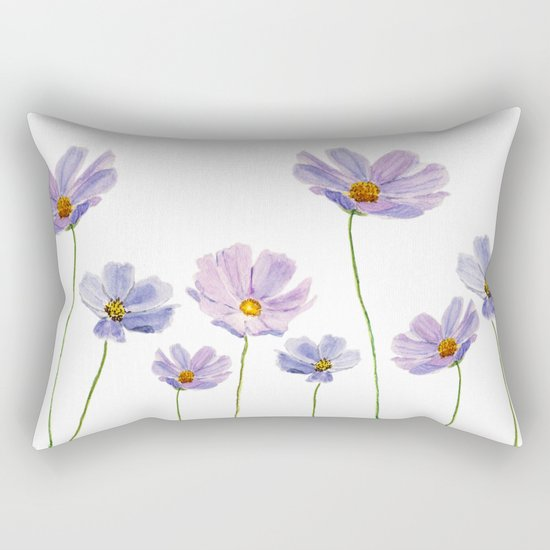 purple cosmos 2 Rectangular Pillow