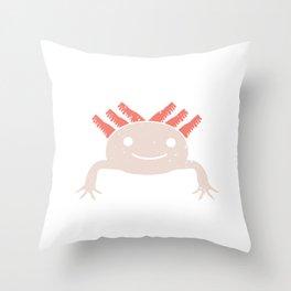 Funny Axolotl Adorable Creature Fish Aquarium Owner Throw Pillow