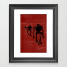 March Of The Robots Framed Art Print
