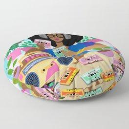 Cassette Player Floor Pillow