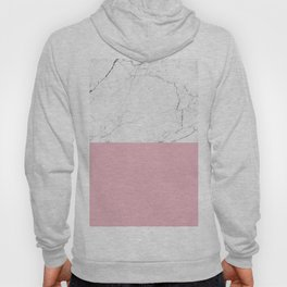 blush pink and white marble color block Hoody