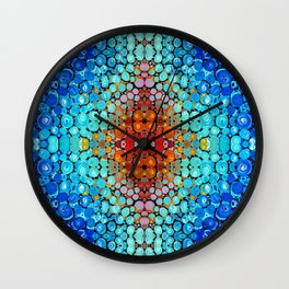 Inner Vision - Colorful Spiritual Abstract Art By Sharon Cummings Wall Clock