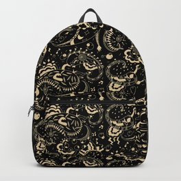 emotional paisley pattern Backpack