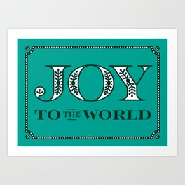 Catholic Christmas Card Joy to the World Art Print