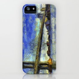 Manhattan Bridge New York Art iPhone Case