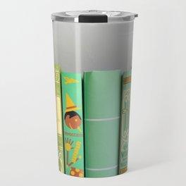 shelfie in green Travel Mug