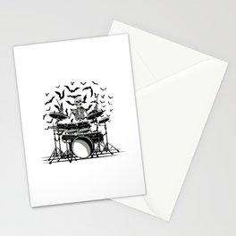 Skeleton Drummer Stationery Cards
