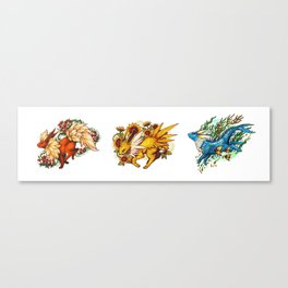 Generation One Eeveelutions Canvas Print